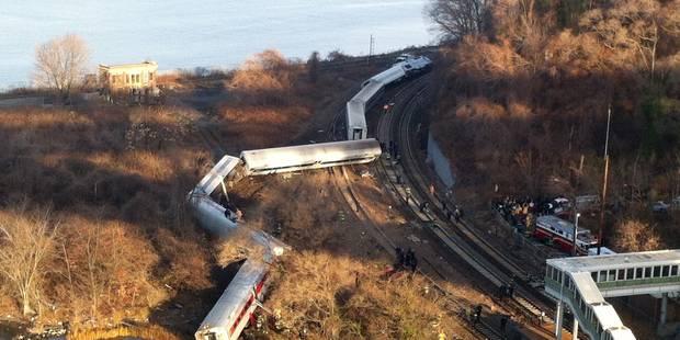 Un train de banlieue déraille à New York, 4 morts et plus de 67 blessés - La Libre