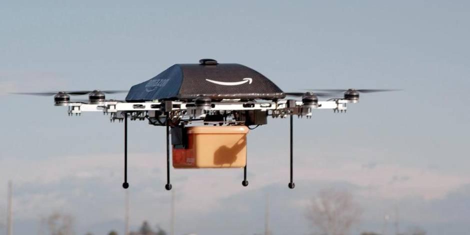 Drones de livreurs chez Amazon (VIDEO)