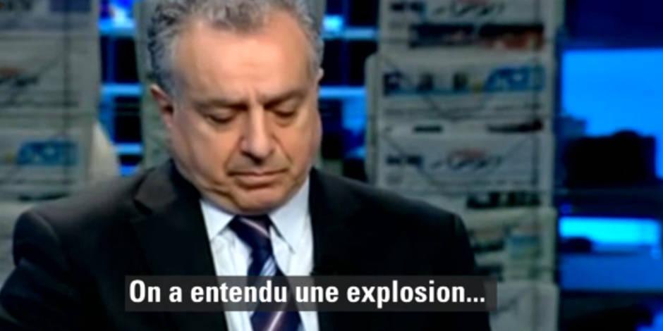 Une télé libanaise secouée en direct par l'attentat de Beyrouth