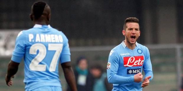 Les Belges à l'étranger : Dries Mertens (Naples) marque encore, bons débuts pour Nainggolan (AS Rome) - La Libre