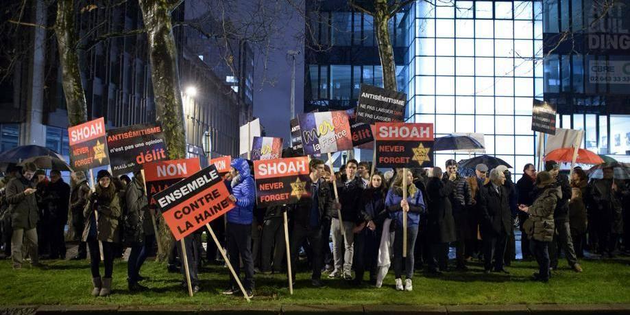 Manifestation à Bruxelles en faveur de la France face à Dieudonné