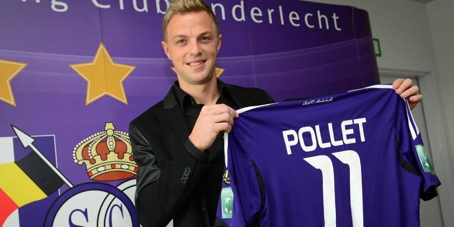 David Pollet, nouveau numéro 11 d'Anderlecht