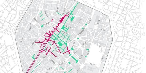 Le centre de Bruxelles en piétonnier, voici les plans! - La Libre