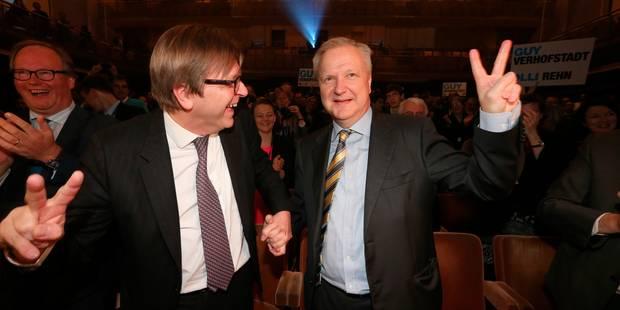 Verhofstadt et Rehn chefs de file des Libéraux aux Européennes - La Libre