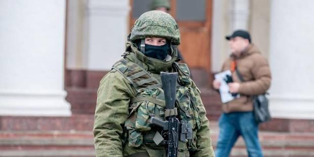 Ukraine : mille hommes armés font blocage en Crimée - La Libre