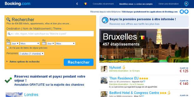 Booking.com: menace pour les hôteliers? - La Libre