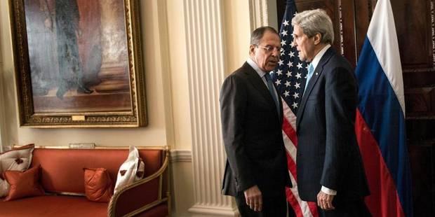"""Ukraine : Kerry et Lavrov n'ont """"pas trouvé de terrain d'entente"""" - La Libre"""
