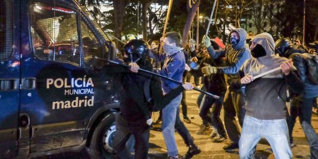 Incidents à Madrid: une centaine de blessés et 24 interpellations - La Libre