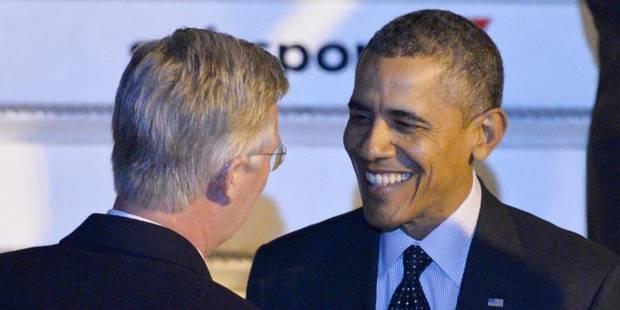 Barack Obama arrive sans encombre à Bruxelles - La Libre