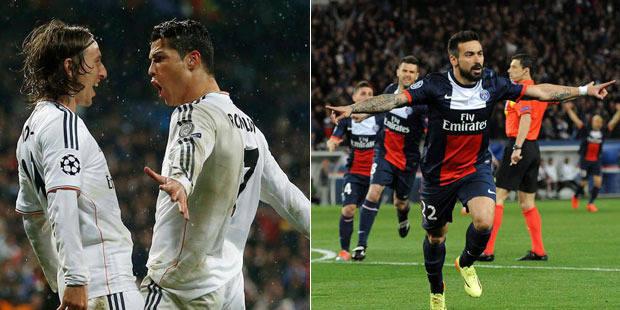 Ligue des Champions: le PSG et le Real prennent une option sur les demies - La Libre