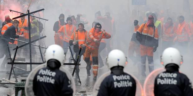 Manifestation syndicale à Bruxelles: une trentaine de blessés - La Libre
