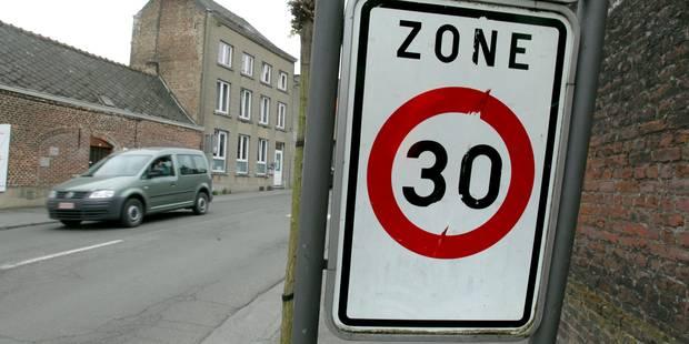 """Des zones 30 """"intelligentes"""" bientôt installées en Wallonie - La Libre"""