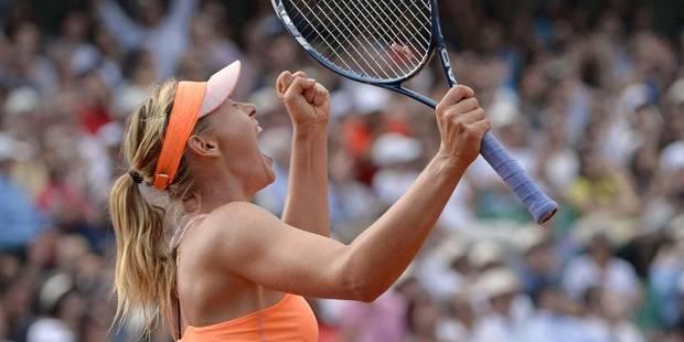 Sharapova remporte Roland-Garros au terme d'un match intense - La Libre