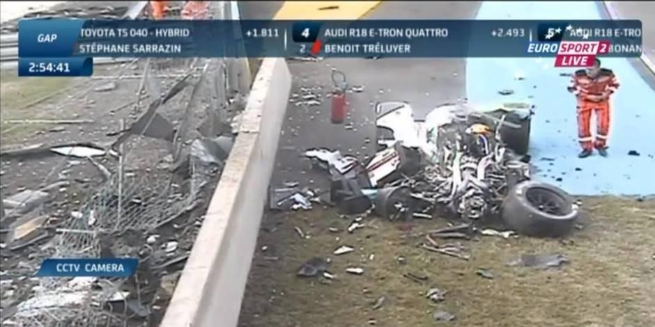 24 Heures du Mans: crash impressionnant de Loïc Duval lors des essais libres