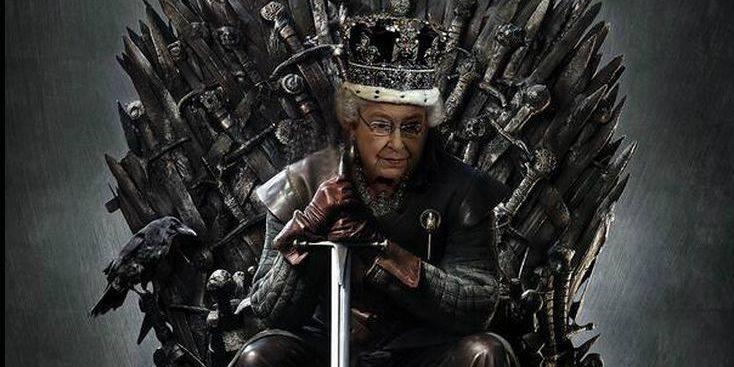 """Les Twittos détournent avec joie la visite d'Elizabeth II dans les studios de """"Game of Thrones"""""""
