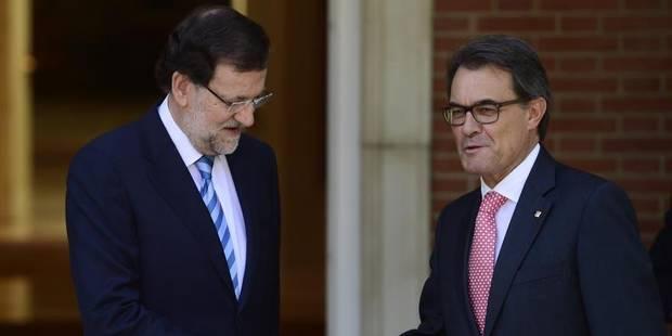 """Catalogne : Mas """"décidé"""" à organiser le référendum, """"illégal"""", selon Rajoy - La Libre"""