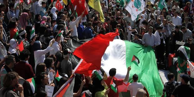 La manifestation à Bruxelles en soutien à la bande de Gaza s'est déroulée sans incident - La Libre