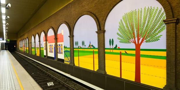 Le métro, ce musée souterrain - La Libre