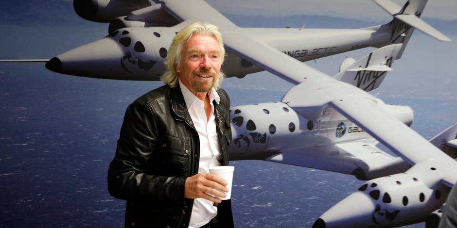 """Richard Branson: """"On volera dans l'espace pour aller très rapidement en Australie"""""""