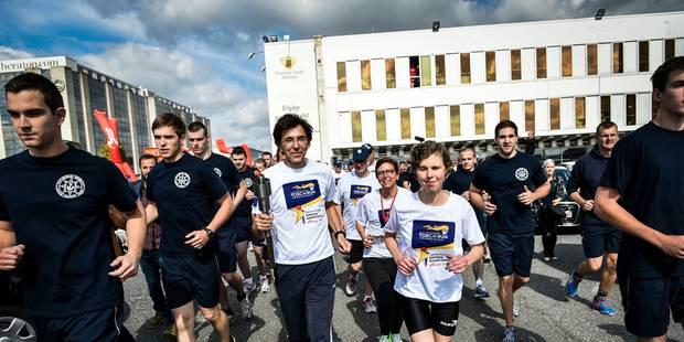 La flamme des Special Olympics est arrivée en Belgique - La Libre