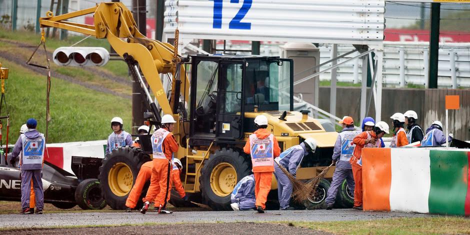 Crash de Bianchi : Pas de « safety car » ni de drapeaux jaunes !
