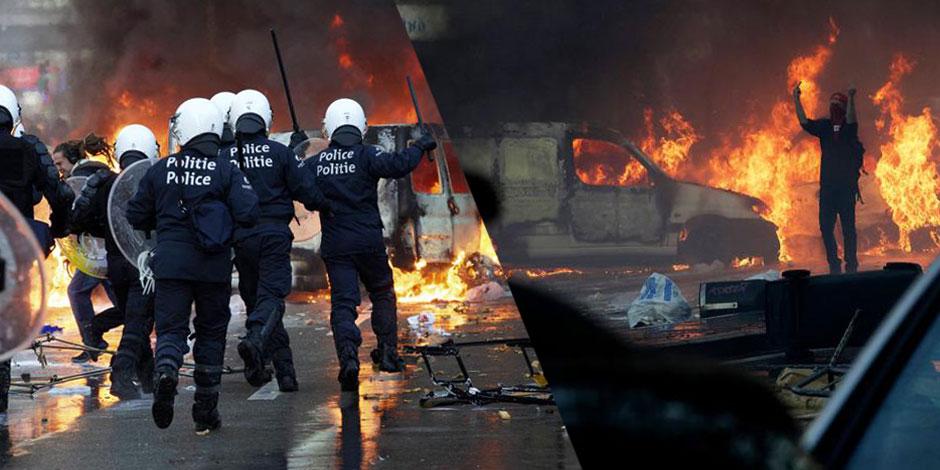 Manifestation nationale: 50 à 60 policiers blessés (IMAGES)