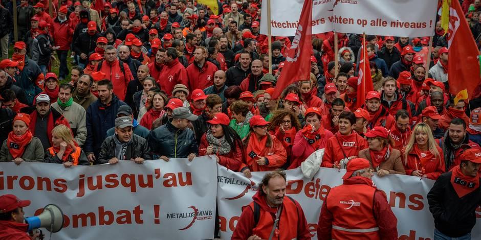 Grosse pression syndicale sur le gouvernement - La Libre