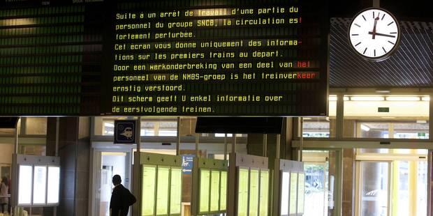 Grèves tournantes: la SNCB prévoit de fortes perturbations lundi - La Libre