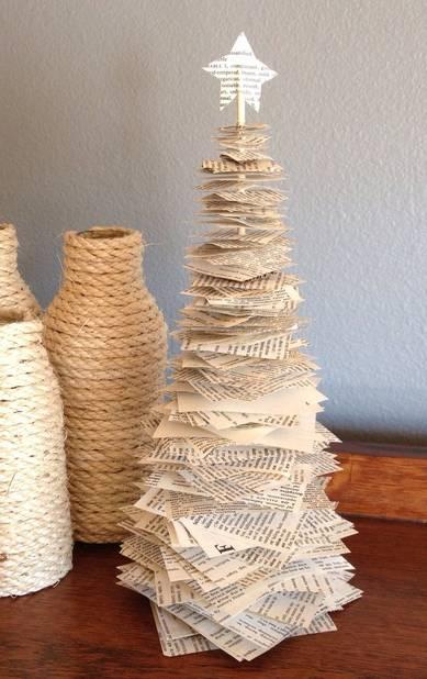 Un sapin de papier, idéal à faire avec les enfants