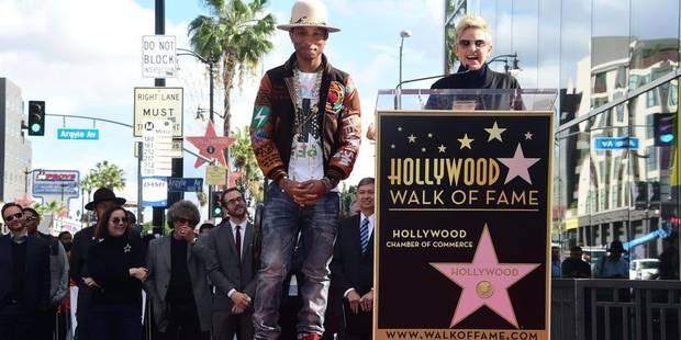 """Pharrell Williams, """"Happy"""" d'avoir son étoile sur le Hollywood Walk of Fame - La Libre"""