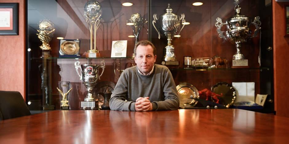 Liège - Standard de Liège: Stade de Sclessin - Bruno Venanzi (nouveau vice-président) en interview pour la DH