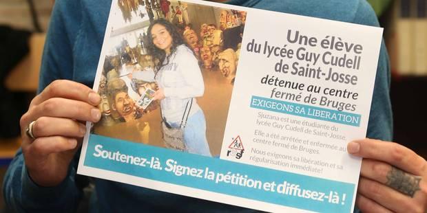 Sjuzana, l'élève de Saint-Josse détenue dans un centre fermé , est libre - La Libre
