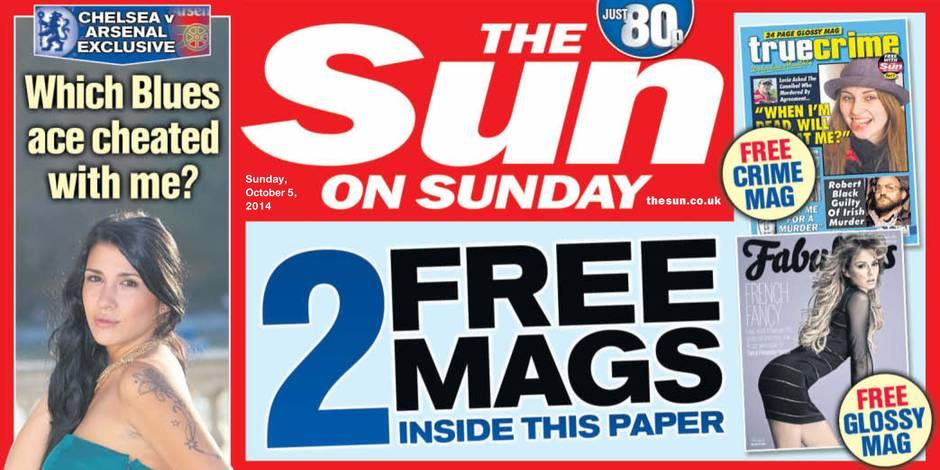 """""""The Sun"""" renonce aux photos seins nus en page 3"""