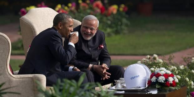 """A New Delhi, Obama et Modi affichent leur """"amitié"""" - La Libre"""