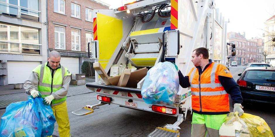 Bruxelles Propreté - Ramassage des déchets, éboueur, sacs poubelle, immondices.