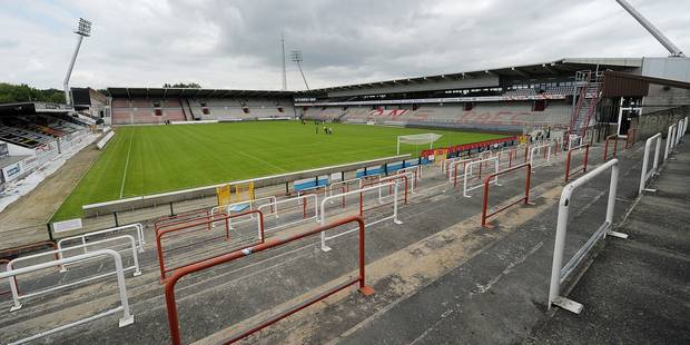 MONS, BELGIUM - JULY 15 : stadium of raec mons during the Jupiler Pro league team presentation of RAEC Mons at the Tondreau Stadium on July 15 in Mons, Belgium (Photo by Laurent Dubrule/Reporters