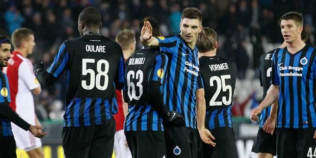 Bruges se qualifie pour les huitièmes de l'Europa League avec autorité (3-0) - La Libre