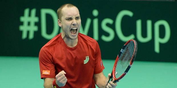 Coupe Davis: la Belgique et Darcis égalisent face à la Suisse - La Libre