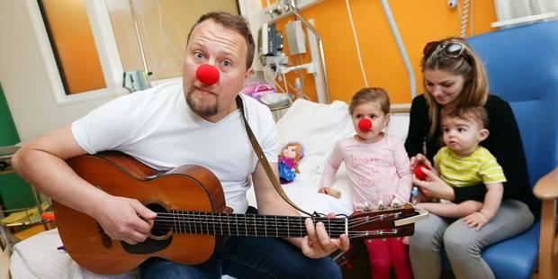 Odelaf fait le clown à l'hôpital - La Libre