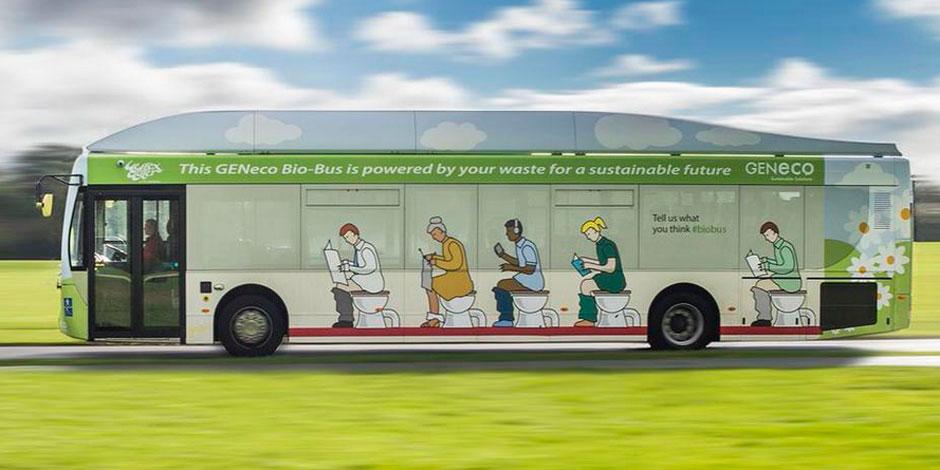 Voici le premier bus qui roule au... caca