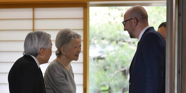 Charles Michel rencontre le couple impérial japonais - La Libre