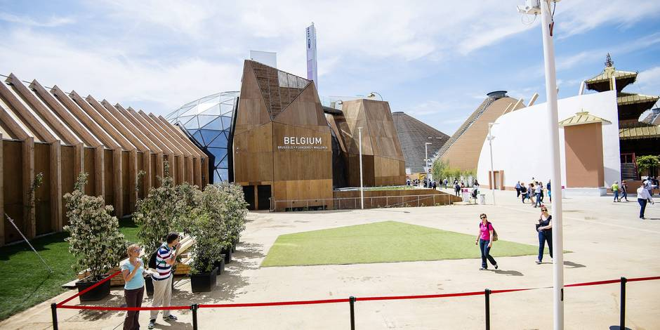 20150509 - MILAN, ITALY: Illustration picture shows the belgian pavilion ahead of a visit to the Universal Exhibition 2015 (Expo Milano 2015 or World Exposition 2015) in Milan, Italy, Saturday 09 May 2015. BELGA PHOTO LAURIE DIEFFEMBACQ