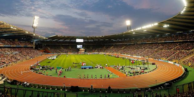 *** TODAY'S BELGA ARCHIVE PICTURE *** 20130906 - BRUSSELS, BELGIUM: Illustration picture shows the King Baudouin stadium with a full audience during the Memorial Van Damme athletics meeting, last stage of the IAAF Diamond League, at the King Baudouin stadium (Boudewijnstadion/ Stade Roi Baudouin) in Brussels, Friday 06 September 2013. BELGA PHOTO KRISTOF VAN ACCOM