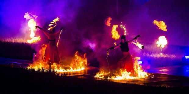"""Bicentenaire de la bataille de Waterloo: un blessé grave lors du spectacle """"Inferno"""" - La Libre"""