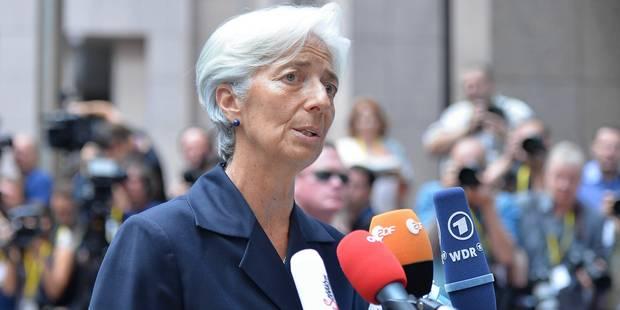 """Crise grecque: le FMI reste """"prêt à apporter"""" son assistance, déclare Lagarde - La Libre"""