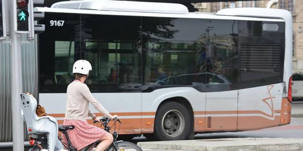 Perturbations sur le réseau STIB suite à un accident avec un cycliste - La Libre