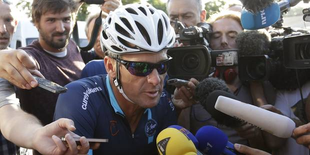 24h avant la course, Lance Armstrong reprend la route du Tour - La Libre