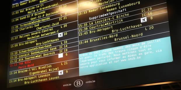 Grève des conducteurs de train du SACT: encore 8% des trains supprimés - La Libre