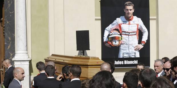 De nombreux pilotes de Formule 1 aux obsèques de Jules Bianchi - La Libre