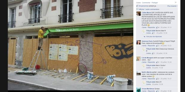 Le chef Damien ne manque pas de partager l'avancée des travaux de son restaurant sur Facebook.
